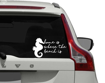 Beach Car Decal /  Home Is Where The Beach Is Car Decal / Love The Beach Car Decal / Beach Window Decal