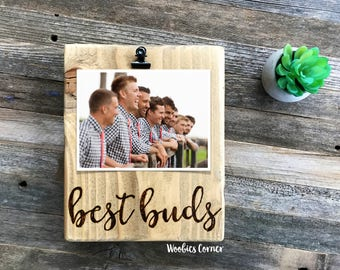 Best buds picture frame, Groomsmen gifts, Best friend picture frame, Best friend gift, Best friend frame, Friends picture frame, Wood frame