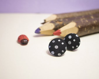 Studs with DARK fabric coated button