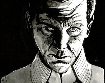 Star Wars - Rogue One - Director Krennic original ink drawing