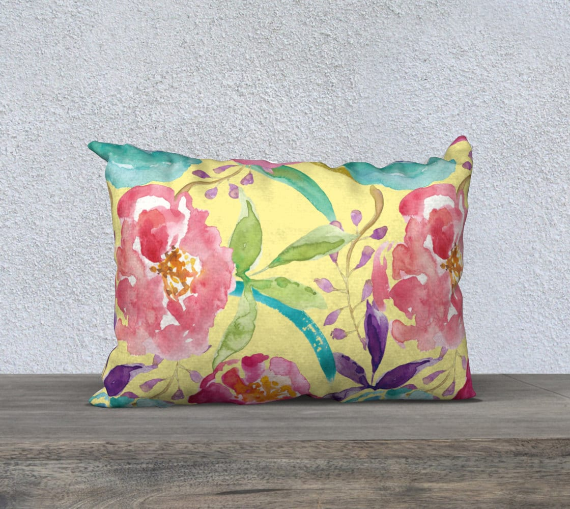 Modern Floral Pillows : Floral Pillow Cover Modern Flowers Cushion Cover Modern