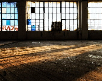 Windows And Sunrays, Graffiti, Abandoned, Art Print, Graffiti Art, Modern Home Art, Living Room Wall Art, Sunlight, Shadows, Decay