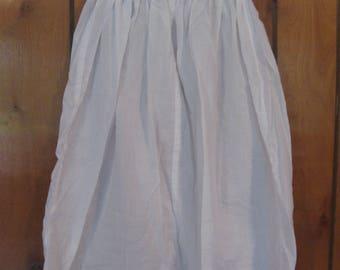 Girls Size 5 White Cotton Slip, FREE SHIPPING