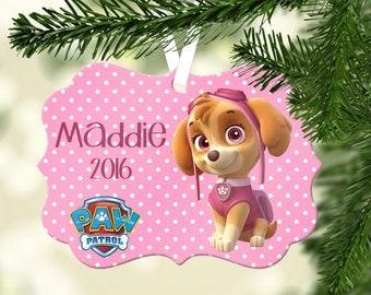 Personalized Paw Patrol Ornament ~ Skye ~ Christmas Ornament