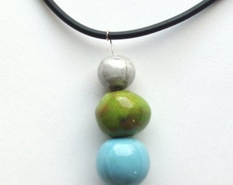 three elements piece balls necklace