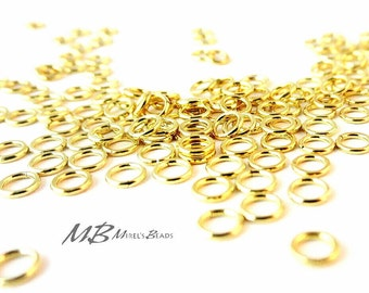144 4mm Jump Rings, Gold Plated Jump Rings, Closed Jump Rings
