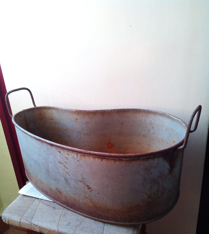 Vintage galvanized tear shaped garden decoration antique for Decoration zinc