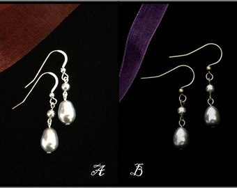 Outlander - Inspired by Claire's Silver Teardrop Earrings,  Valentine's Day or Wedding