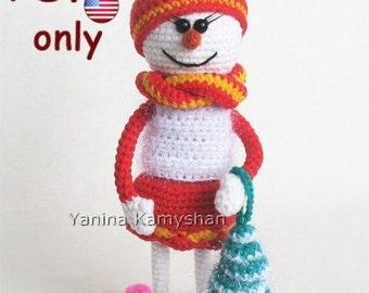 Snowlady, amigurumi crochet pattern