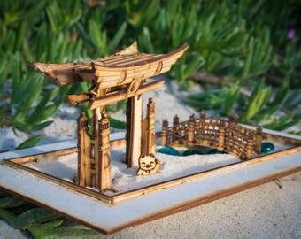 Zen Garden - Tabletop Therapy Kit. 6 piece playset, plus the sandbox. Build, Play, Love!