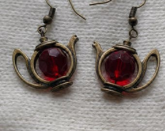 Teapot Dangle Earrings