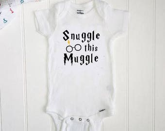 Snuggle this Muggle ONESIE®// Harry Potter ONESIE®  // Baby Shower // Funny baby gift// Unisex Baby  // New Baby