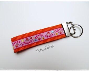 Keychains - flowers - orange pink