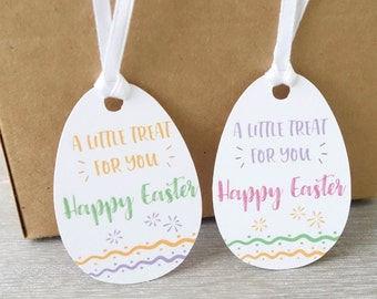 Easter gift tags etsy 24x easter gift tags 35 cm x 5 cm egg shape tags negle Choice Image