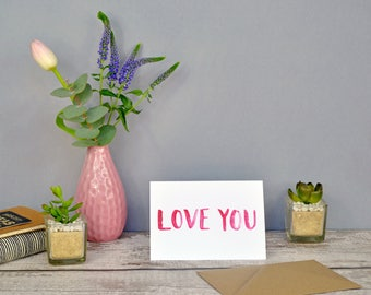 Love You | Just Because | Thinking of You | Valentine's Card