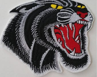 2 SIZES Black/Brown panther iron on or sew on patchBrown panther iron on or sew on patchPanther iron on patch Panther patch Panther applique