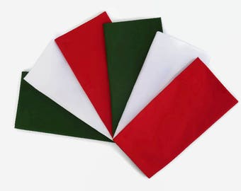 solid italy colors napkins set of 6 solid green white u0026 red cloth napkins