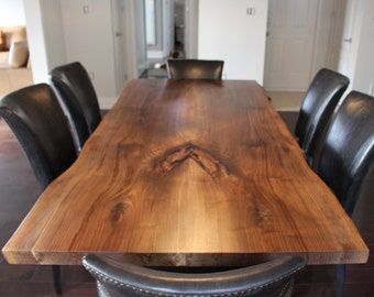 Live Edge Black Walnut dining table - Live edge designs by Plank To Table