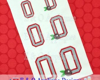 OHIO Buckeye Embroidery Design - Ohio State Embroidery Design - Buckeye Embroidery Design - Ohio Embroidery design - Digital Design
