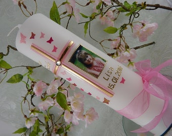 Christening candle - personalised candles - Christening gifts