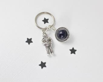 Astronaut Keychain, Planet Keychain, Nebula Keychain, Outer Space Keychain, Astronomy Gifts, Galaxy Keychain, Cosmic Creations, Science Gift