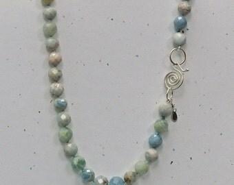 Aquamarine Long Necklace