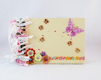 Yellow Scrapbook Album, Photo Album/Scrapbook, Memory Book, Premade Scrapbook/Mini Album