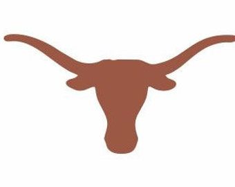 LONGHORN DECAL for Cars, Many Different Colors Available