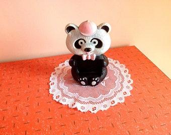 Vintage Avon rubber panda toy soap holder
