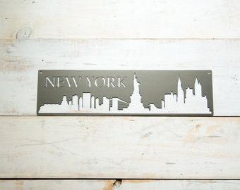 New York City Skyline Steel Art