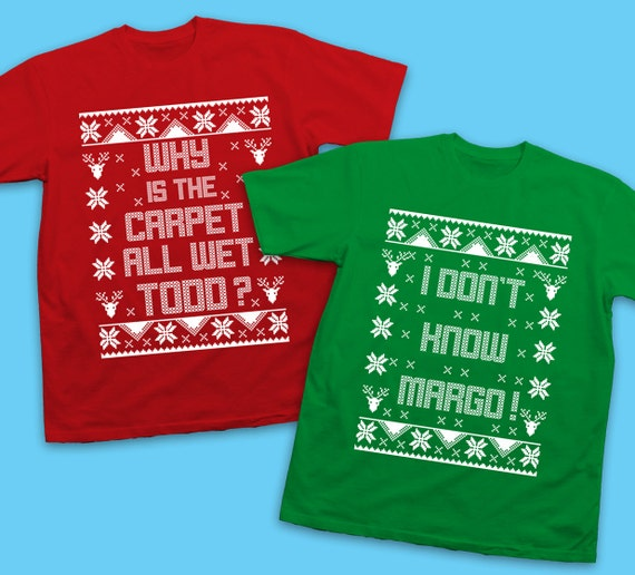SET OF 2 Matching Christmas Shirts Todd & Margo Couples