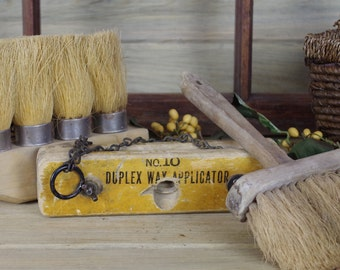 Straw Knot Handle, Whitewash Brush, Duplex Applicator, Country Broom, Rustic Wall Decor, Country Wall Decor, Instand Collection #10-26