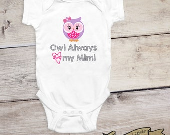 I Love My Mimi Onesie® Girl Gift Ideas for Grandma Onesie® Pregnancy Announcement Grandparents