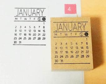 Monatlichen Kalender Stempel