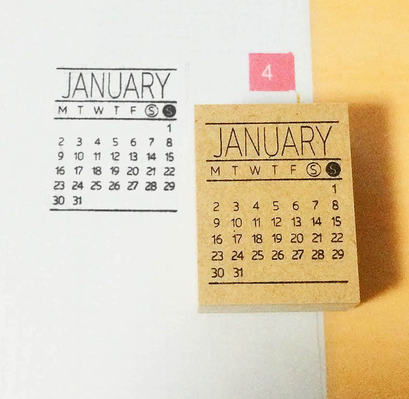 Calendar Stamp Bullet Journal : Calendar stamp mini bullet journal