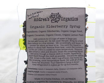 Elderberry Syrup Kit, Organic Cold Flu Remedy Elderberry Syrup, DIY Herbal Syrup Kit,