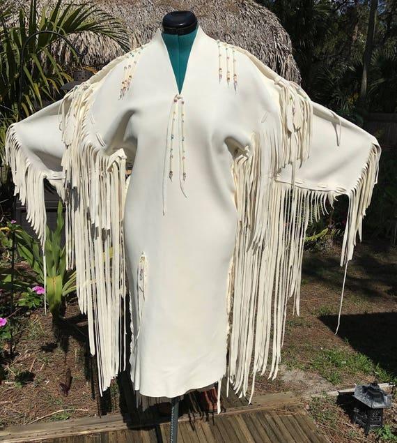 Native American Wedding Dresses: Items Similar To White Deerskin Wedding Gown
