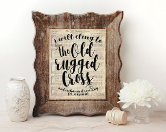 The Old Rugged Cross Hymn Wall Art