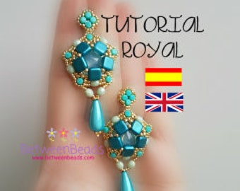 Earrings Schema, Long Drop Earrings, Tutorial Beadwork Earrings Pattern Beadweaving Earrings, Jewelry, Spanish English, Beads, Seed Beads