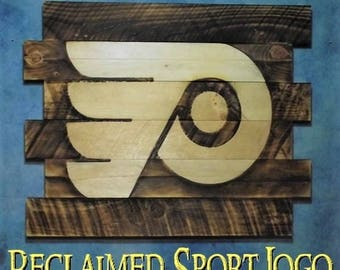 Philadelphia Flyers, FREE UV protector, 30X23, Burnt wall hanging, Shou Sugi Ban, Charred wood, Sports sign, Rustic, Wood Sports sign