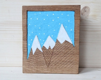 Small wooden relief
