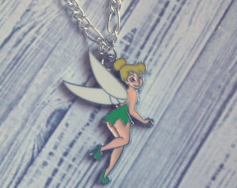 "Tinkerbell Charm Necklace (Disney) 18"" - Choose Your Own Chain"
