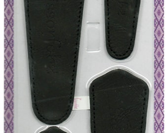 Scissors sheaths -VALUE PACK-4 sizes/pk- Designer Cover w/ScissorGripper Sewing Quilting Embroidery. Shiny patent black. S-41.Free Shipping.