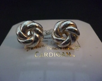 Vintage silver clip on earrings - 925 - sterling silver