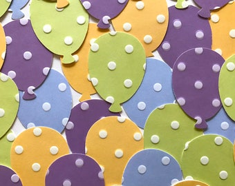 Large Balloon Shapes Birthday Party Confetti Kid's Party Decor Table Scatter Card making Embossed Polka Dots