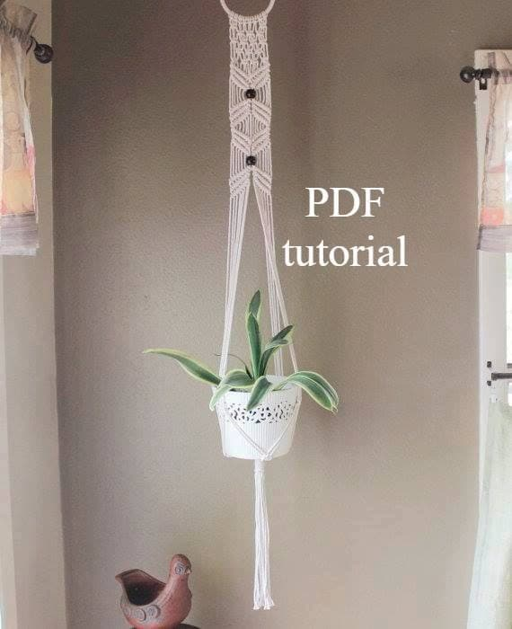 Transformative image pertaining to free printable macrame plant hanger patterns