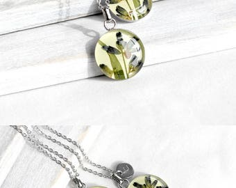 Personalized jewelry|for|women Personalized necklace for mother day gift Initial necklace Love necklace Lavender jewelry terrarium necklace