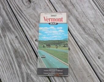 Vintage Vermont road map 1967