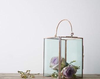 Copper Candle Holder // Large Candle Holder // Copper Lantern // Wedding Decor / Table Centerpiece // Copper Wedding Decor / Wedding Lantern