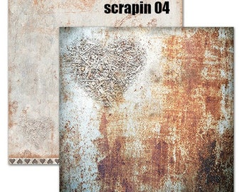 Studio Light Industrial 12 x 12 scrapin 04 sheet, Scrapbooking 12 x 12 200gsm quality double sided paper, Mixed media paper collection